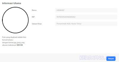 ubah profil dan foto mysapk bkn