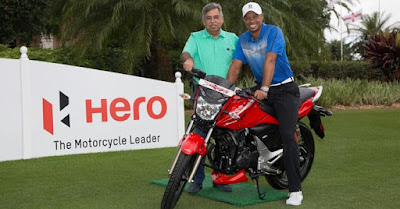 Hero Xtreme Sports Facelif with tiger woods image
