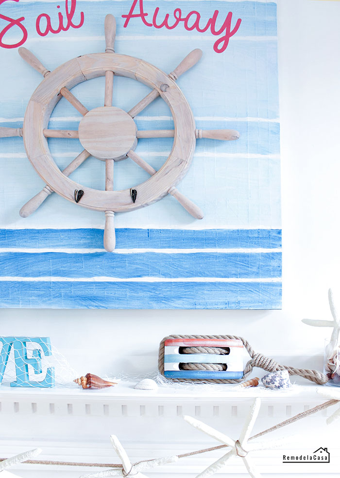 coastal decor - mantel