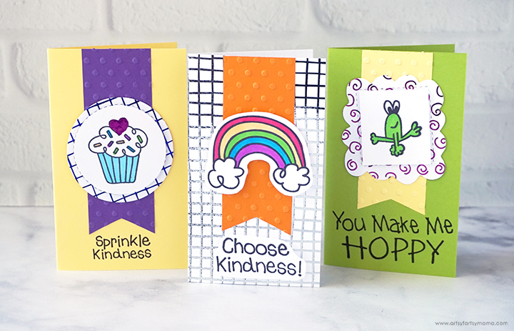 Handmade Kindness Cards with Therm-O-Web
