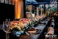 casamento le bistrot gourmet em porto alegre com decoração em rosa preto e prata sofisticada e elegante por life eventos especiais