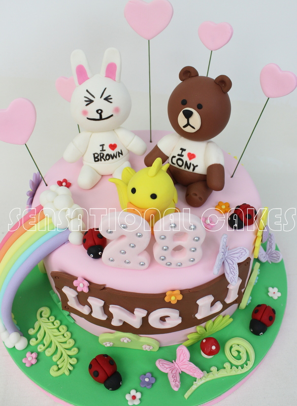 The Sensational Cakes Line Cony And Brown 3d Cake