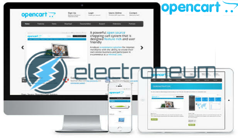 Sistem pembayaran menggunakan cryptocurrency, electroneum bekerjasama dengan opencart dalam menyediakan layanan pembayaran, transaksi menggunakan electroneum, apa itu electroneum, berita crypto tebaru, berita altcoin terbaru, berita blockchain terbaru,