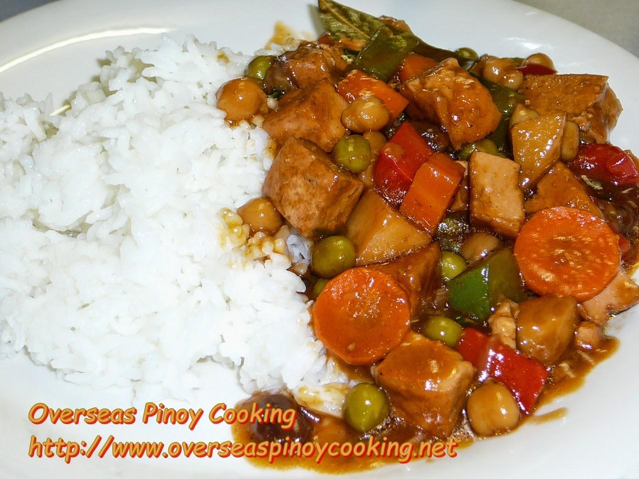 Vegetarian Menudo, Tofu Menudo Rice