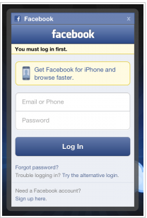 Facebook Login Full Site Not Mobile