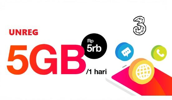 Cara STOP paket TRI 5gb 1 hari