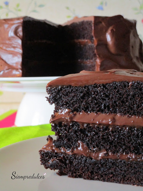 Devil's food cake (Siempredulces)