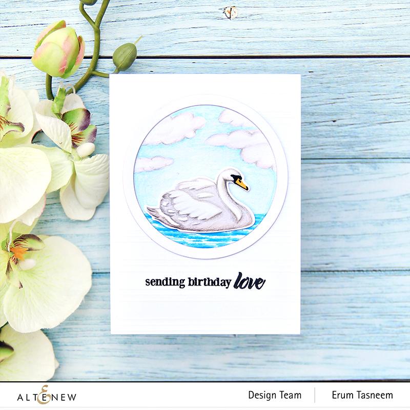 Altenew Modern Swans Stamp Set | Erum Tasneem | @pr0digy0