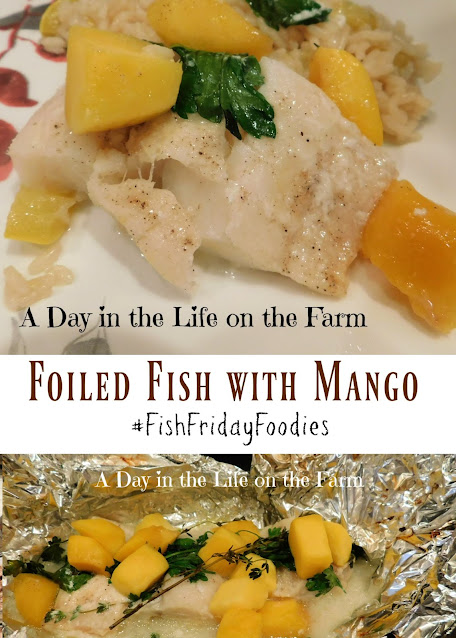 Foiled Fish with Mango pin