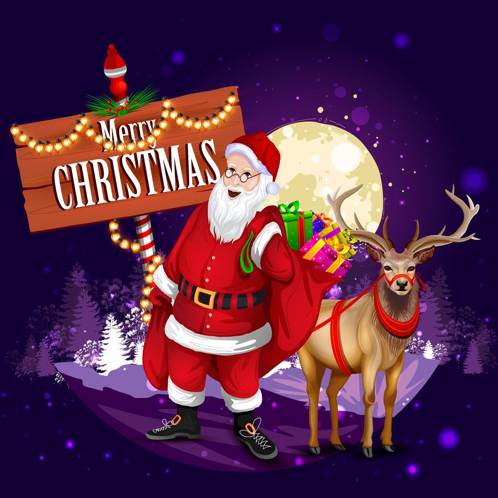 """Merry En: BANCO DE IMÁGENES: Santa Claus Con Mensaje De """"Merry"""