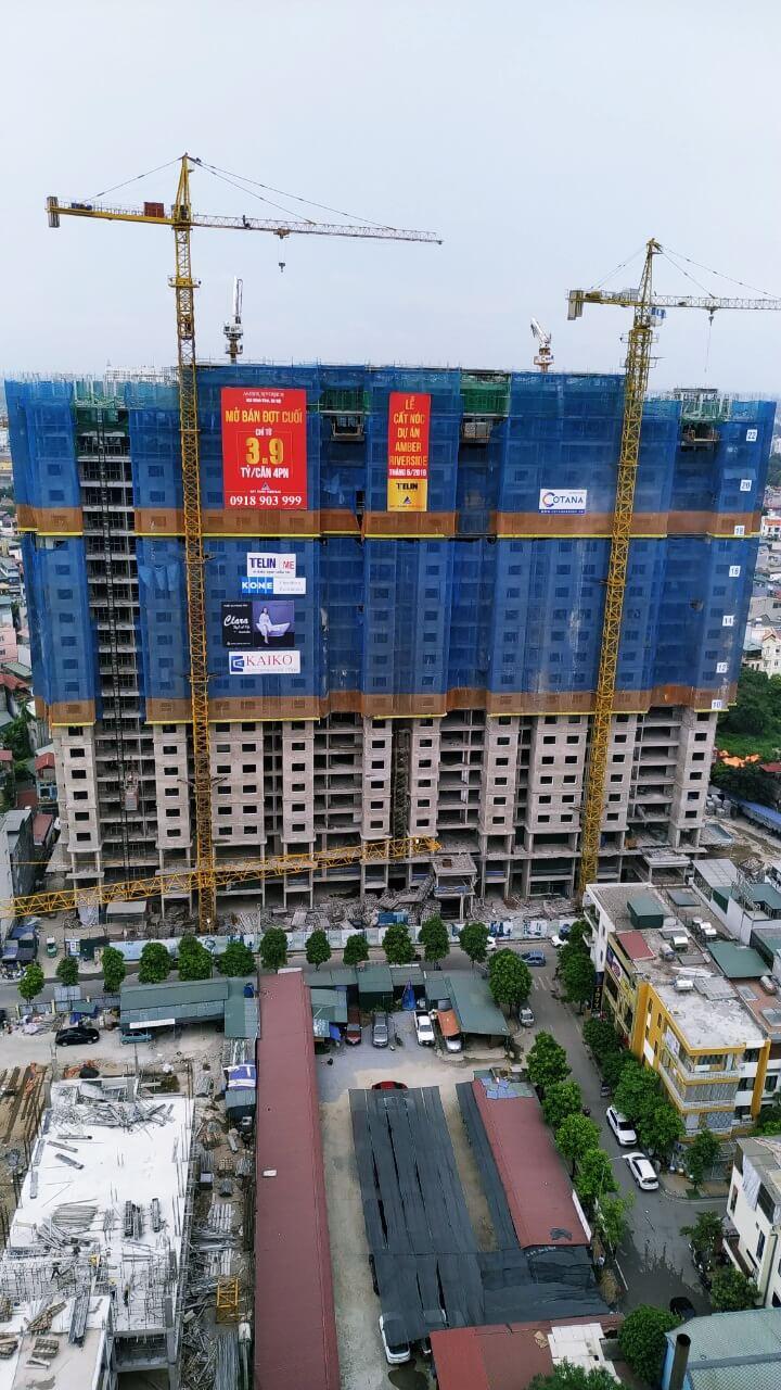Tiến độ mặt đứng dự án 622 Minh Khai