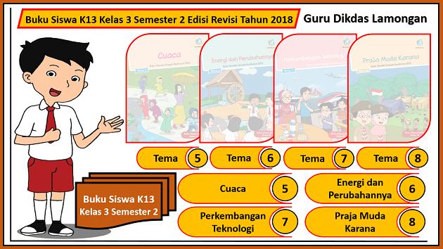 Buku Siswa K13 Kelas 3 Semester 2 Edisi Revisi Tahun 2018