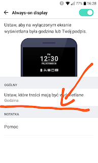 LG G5 Always-on display wybór treści