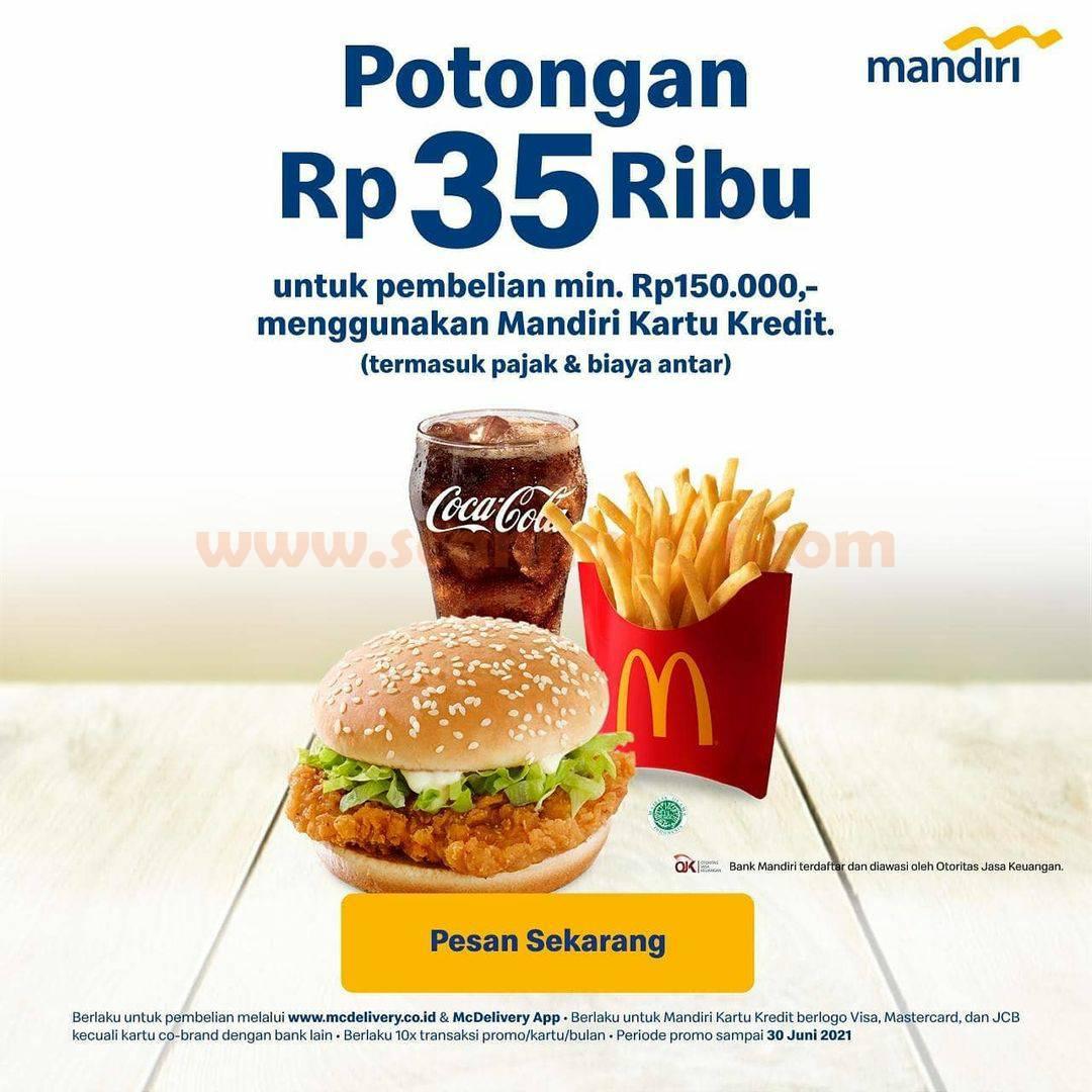 McDonalds Promo Potongan Rp 35.000 dengan Kartu Kredit Mandiri