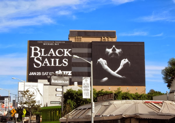 Giant Black Sails season 1 billboard Sunset Strip