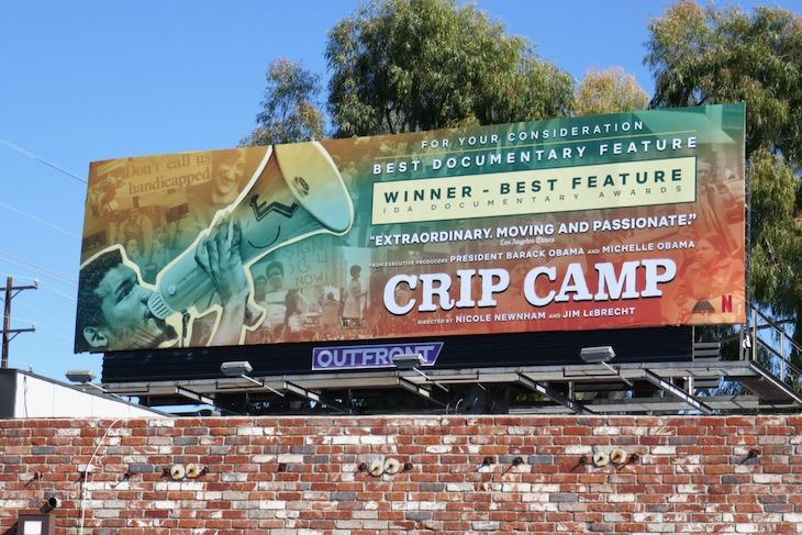Crip Camp documentary FYC billboard