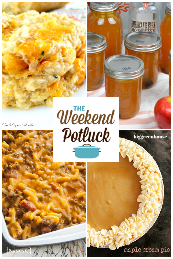 A virtual recipe swap with Secret Ingredient Hashbrown Casserole, Apple Pie Moonshine, Easy Cheeseburger Mac & Cheese, Maple Cream Pie and dozens more!