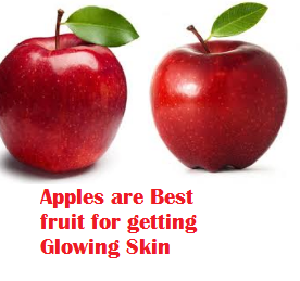 Apples are Best fruit for getting Glowing Skin