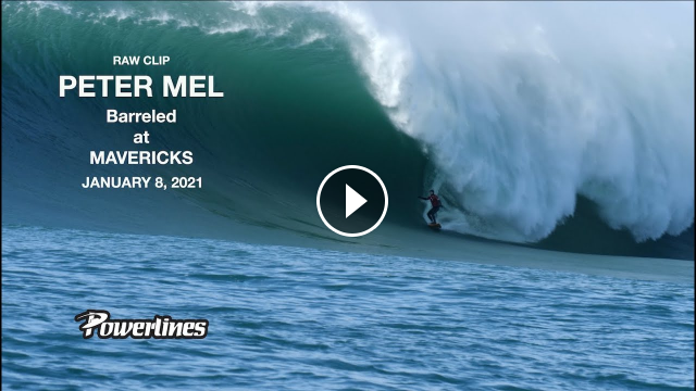 Peter Mel Barreled at MAVERICKS -JANUARY 8 2021 RAW CLIP