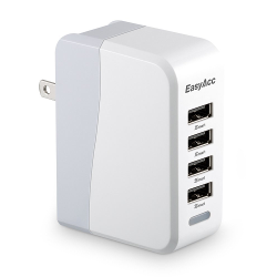 EasyAcc® 20W 4A 4-Port USB Wall Charger with Folding Plug and Smart Technology Travel Charger For iPhone 6 Plus, iPad, Samsung Galaxy S6 Edge, Tab