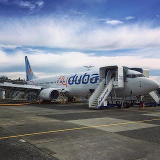 Avião da Fly Dubai