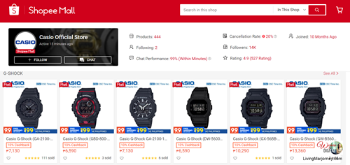 Casio Official Store in Shopee