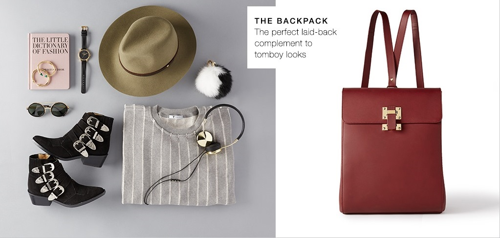The backpack, perfect laid-back