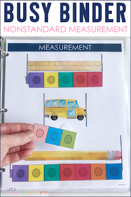 Nonstandard Measurement Busy Binder Activity for Preschool