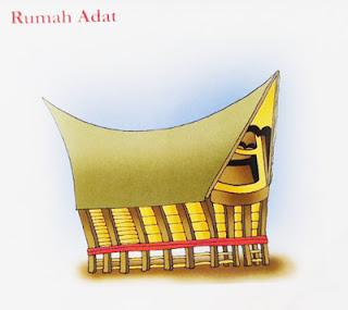 rumah adat sumut kartun atau lukisan