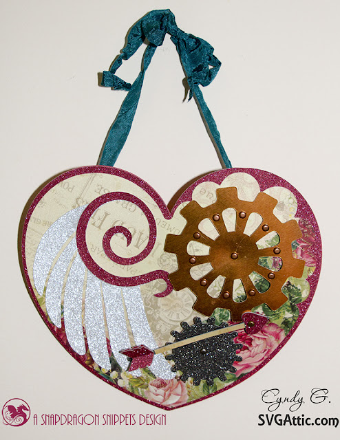 Steampunk heart card