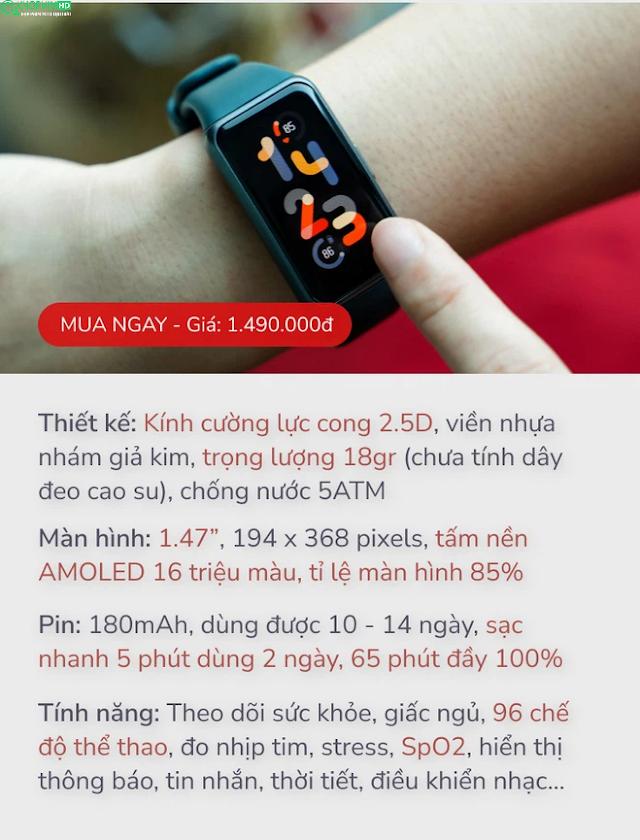 [Review] Huawei Band 6: từ thiết kế đến tính năng đã được nâng cấp