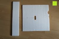 Styropor: Küchenschrank Wandschrank Hängeschrank 4 Haken 4 Schubladen 2 Glastüren Schrank