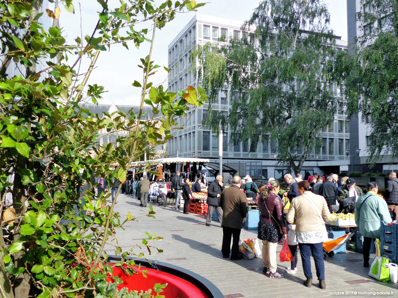 Marchés Tourcoing - Promenade de la Fraternité, centre ville