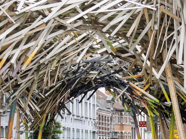 What to do in Mons Belgium: European Capital of Culture wooden art installation