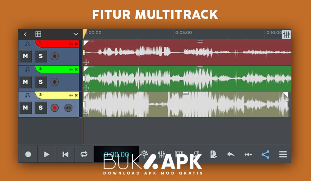 Fitur Multitrack Ntrack Studio MOD APK