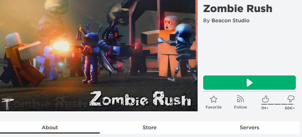 Zombie Rush Roblox Game