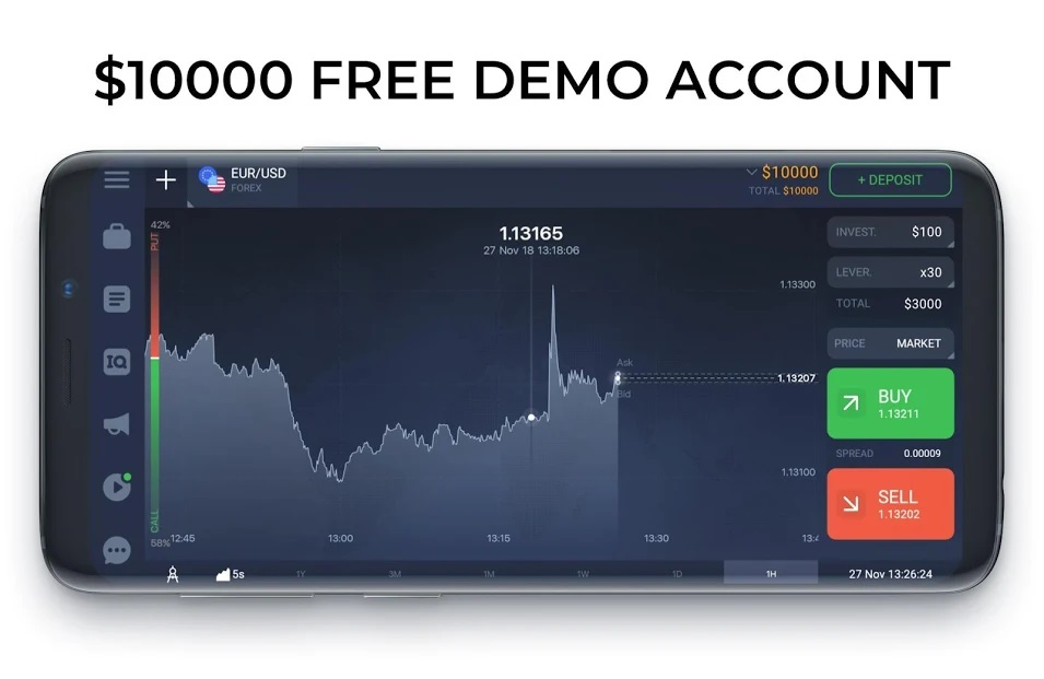 IQ Option is an award winning mobile trading platform*. It has clean and intuitive interface, created to meet the needs of the most demanding traders.