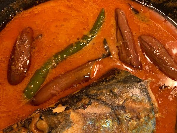 Resipi kari kepala ikan tenggiri dan sambal belacan