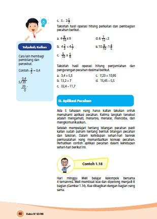 kunci jawaban buku siswa senang belajar matematika kelas 4 kurikulum 2013 revisi 2018