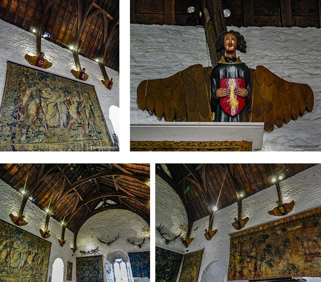 Salão principal do Castelo de Bunratty, Limerick, Irlanda