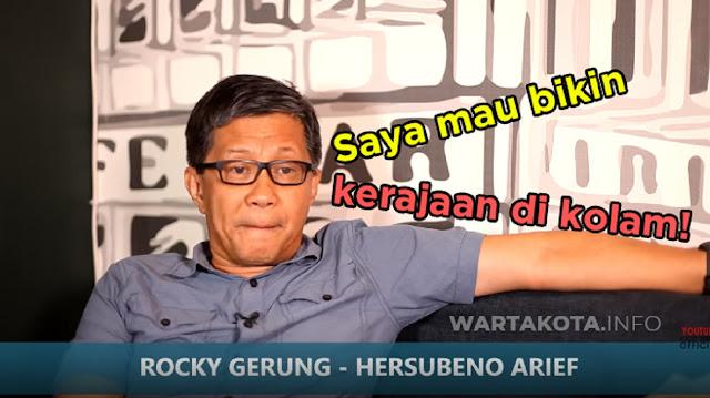 Muncul Raja-Raja Baru Di Indonesia, Rocky Gerung : Mereka Mencontoh Jokowi