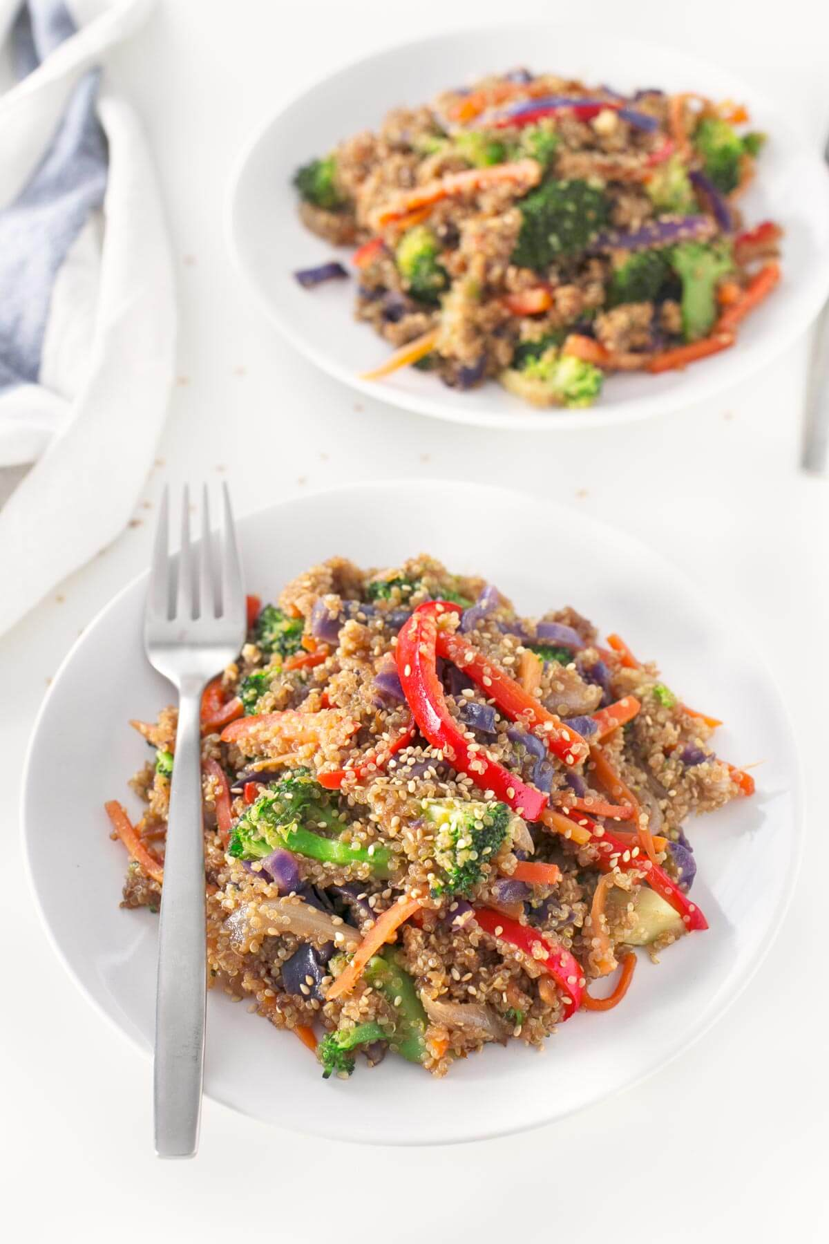Vegetable and Quinoa Wok. - This vegetable and quinoa wok is a perfect everyday dish because it is very nutritious and easy to prepare. It is ideal as a recipe for use.