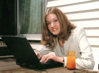 image of girl with computer