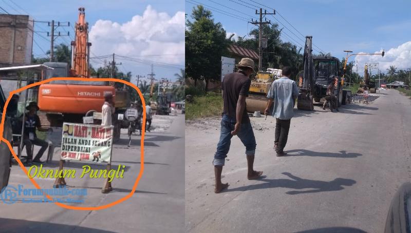 Kemacetan Akibat Semenisasi Jalan Rajawali Haji-Purnama, Sopir Mangsa Oknum Pelaku Pungli
