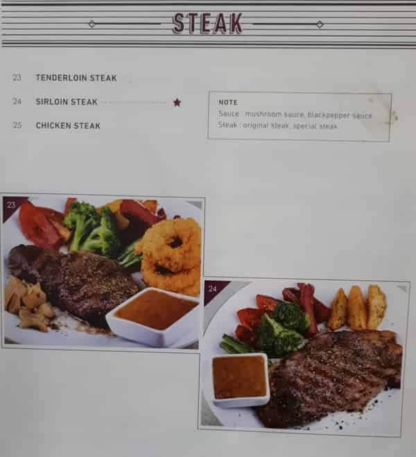 Menu Steak Resto Anggrek