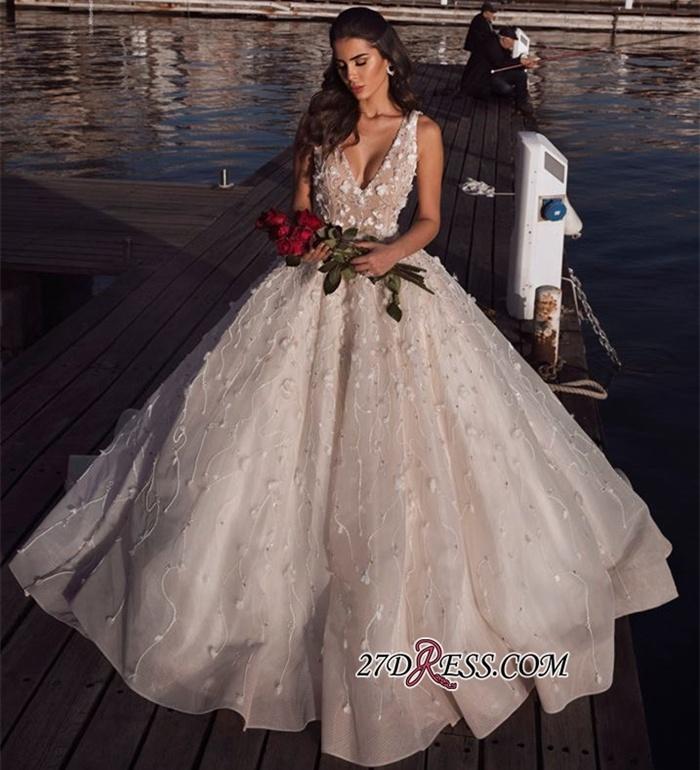 https://www.27dress.com/p/v-neck-elegant-sleeveless-flowers-ball-gown-wedding-dress-109581.html
