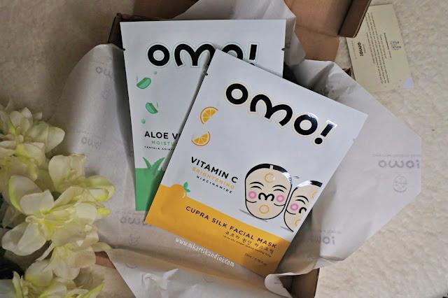 OMO sheet mask masker korea halal masker vitamin C dan masker aloe vera