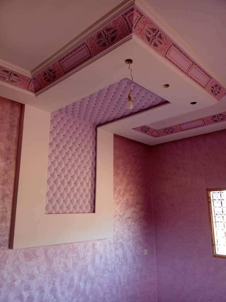 ديكورات جبس غرف المعيشة رومانسية