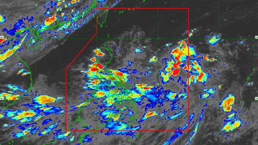 Satellite image of new weather system affecting the country as of 6:40 pm