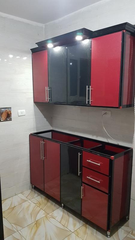 أفضل تصميم مطبخ ألوميتال 1 مقاس  150 سم